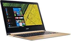 "Acer Swift 7, 13.3"" Full HD, 7th Gen Intel Core i7-7Y75, 8GB LPDDR3, 512GB SSD, Windows 10, Luxury Gold SF713-51-M51W"