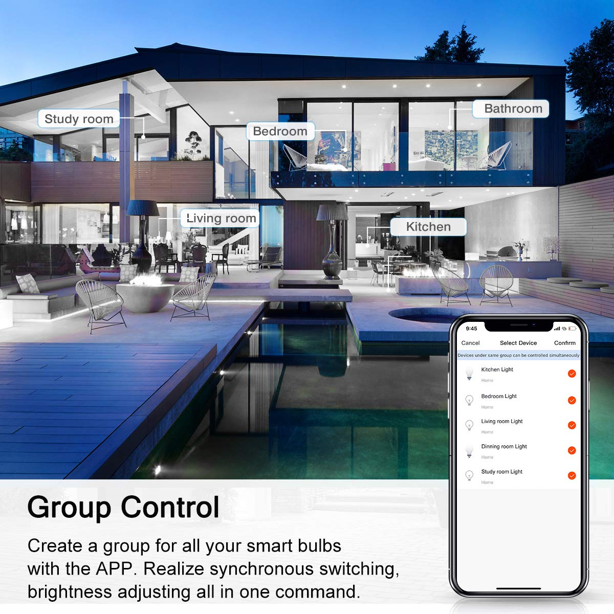 4W = 50W WiFi LED Light Bulb LOHAS LED WiFi Smart Bulb E14 Candle Bulb Remote Control by Smartphone iOS /& Android Compatible with Alexa and Google Home 2700K Warm White Dimmable via App 2 Pack