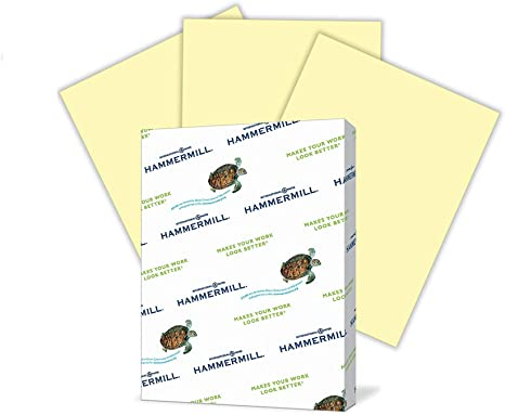 Amazon Com Hammermill Canary Colored 20lb Copy Paper 11x17 1 Ream 500 Total Sheets Made In Usa Sustainably Sourced From American Family Tree Farms Acid Free Pastel Printer Paper 102152r Printer