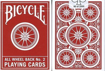 Amazon.com: Bicicleta rueda trasera # 2 Juego de cartas ...