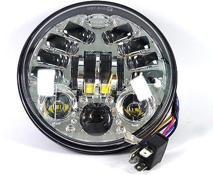 """Scheinwerfer LED 5 3//4 Zoll für Harley Davidson Modelle 5,75/"""" Frontscheinwerfer"""