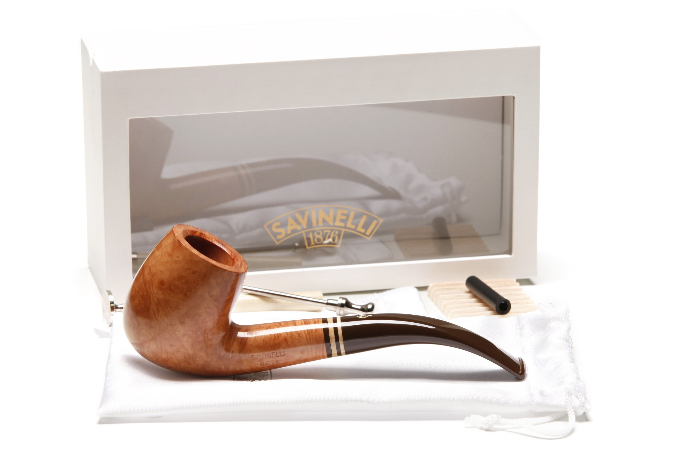 Savinelli Seta Smooth 606 KS Natural Tobacco Pipe by Savinelli (Image #9)