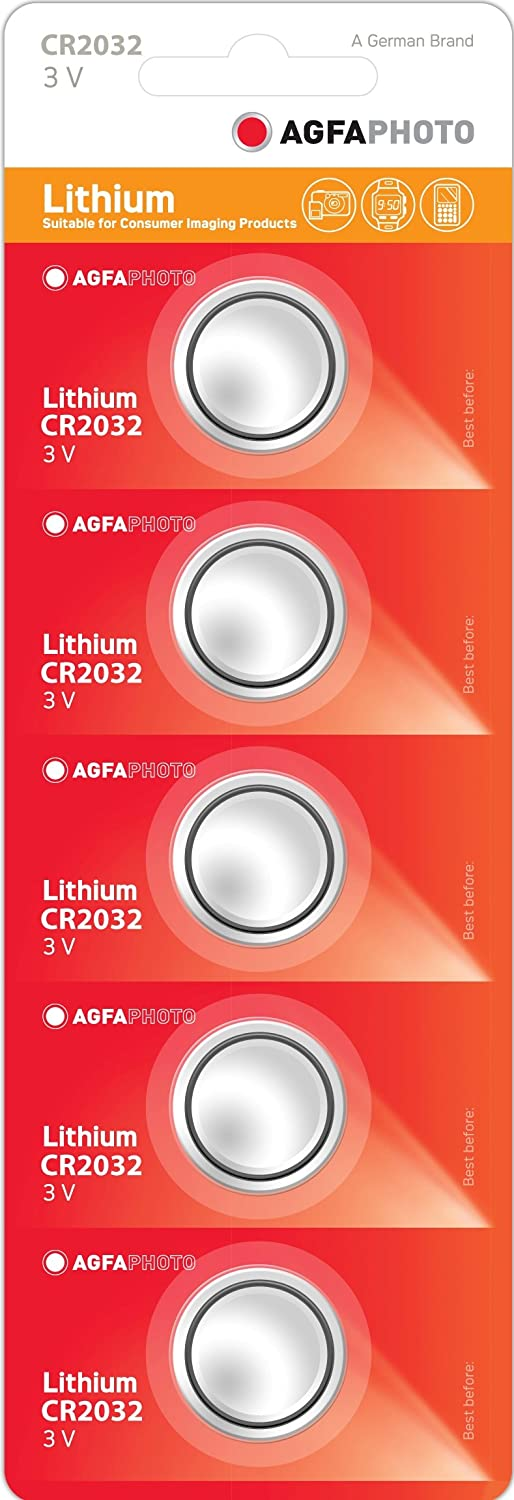 Agfaphoto Batteries - Lithium Coin Battery Cr2032 Pack Of 5 AGFCR2032B5