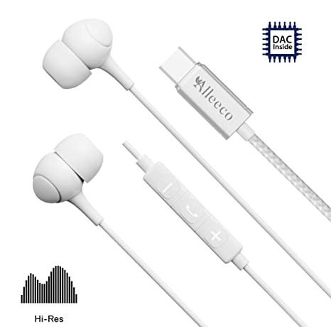 Deep B USB-C Earbuds (Latest Rev), Alleeco Low Profile Soft Touch  Ja Usb Headset Wiring Diagram on