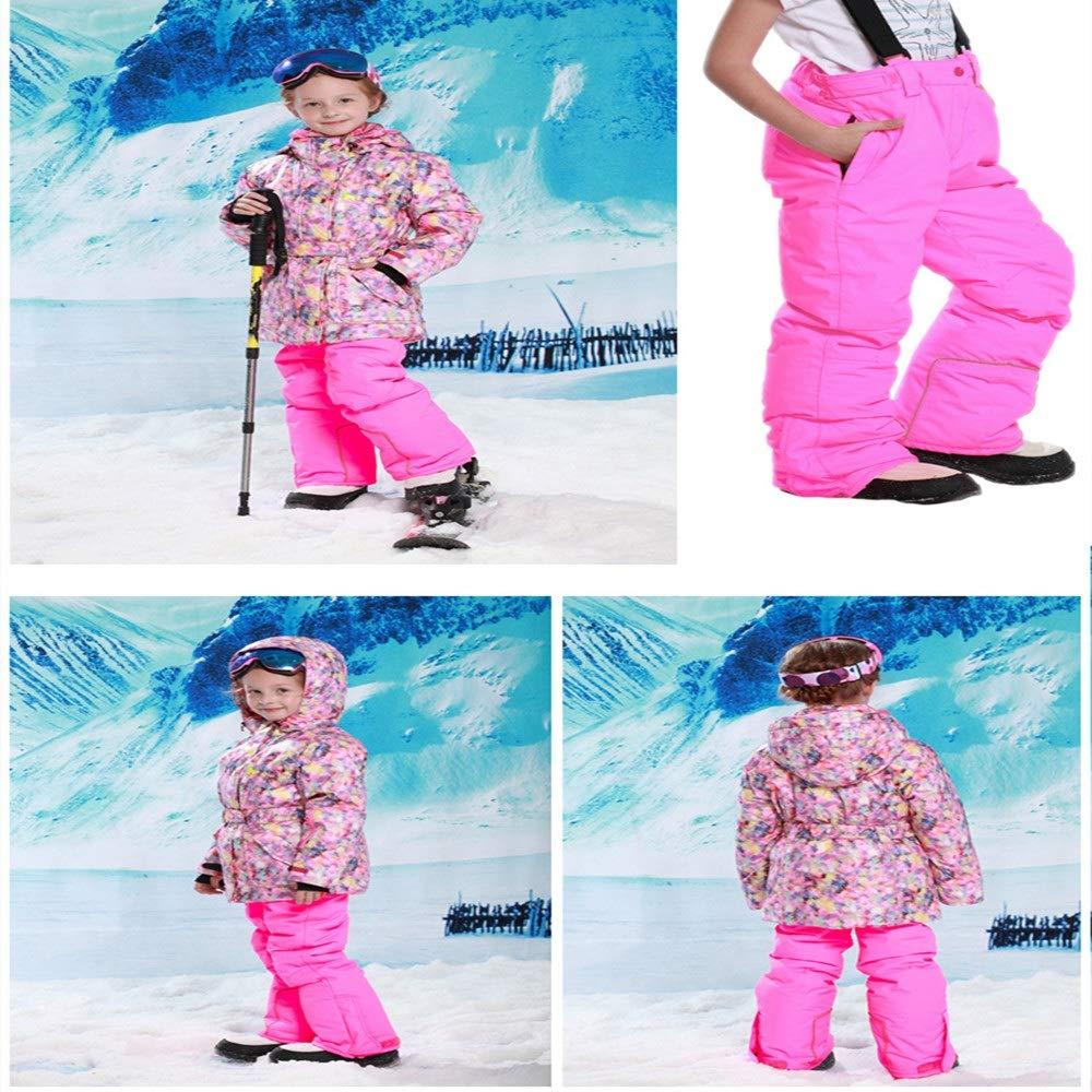 Wagyunfei Snowsuit Giacca da Sci Antivento con Cappuccio Cappuccio Cappuccio da Snowsuit, Impermeabile e Caldo, con 2 Pantaloni Ragazzi Ragazze e Bambini (Coloreee   verde, Dimensione   116 122)B07L93181P116 122 rosa | Il Nuovo Arrivo  | tender  | Conosciuto per la sua bel 602f03