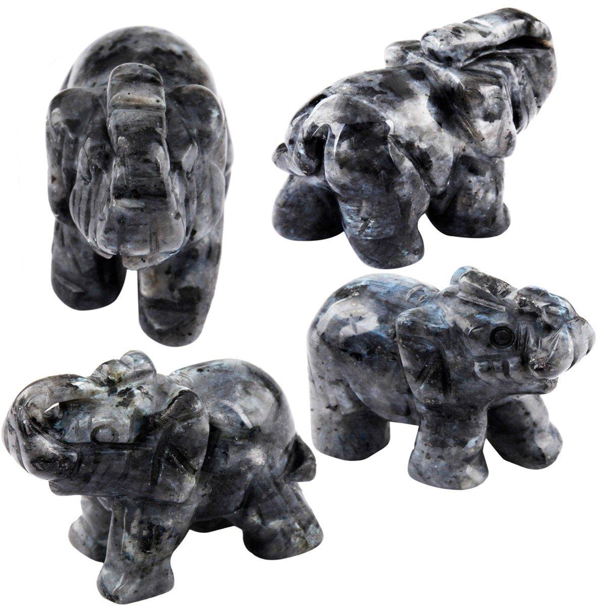 Reiki-Statue 3,8 cm Stein Energie-Edelstein mookaitedecor Elefantenfigur heilender Kristall Heimdekoration Rosenquarz