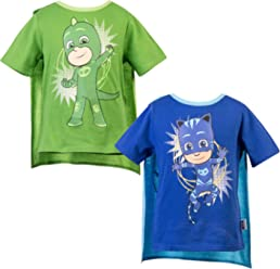 PJ Masks Short Sleeve T-Shirt - 2 Pack of PJMASKS Catboy & Gekko Short