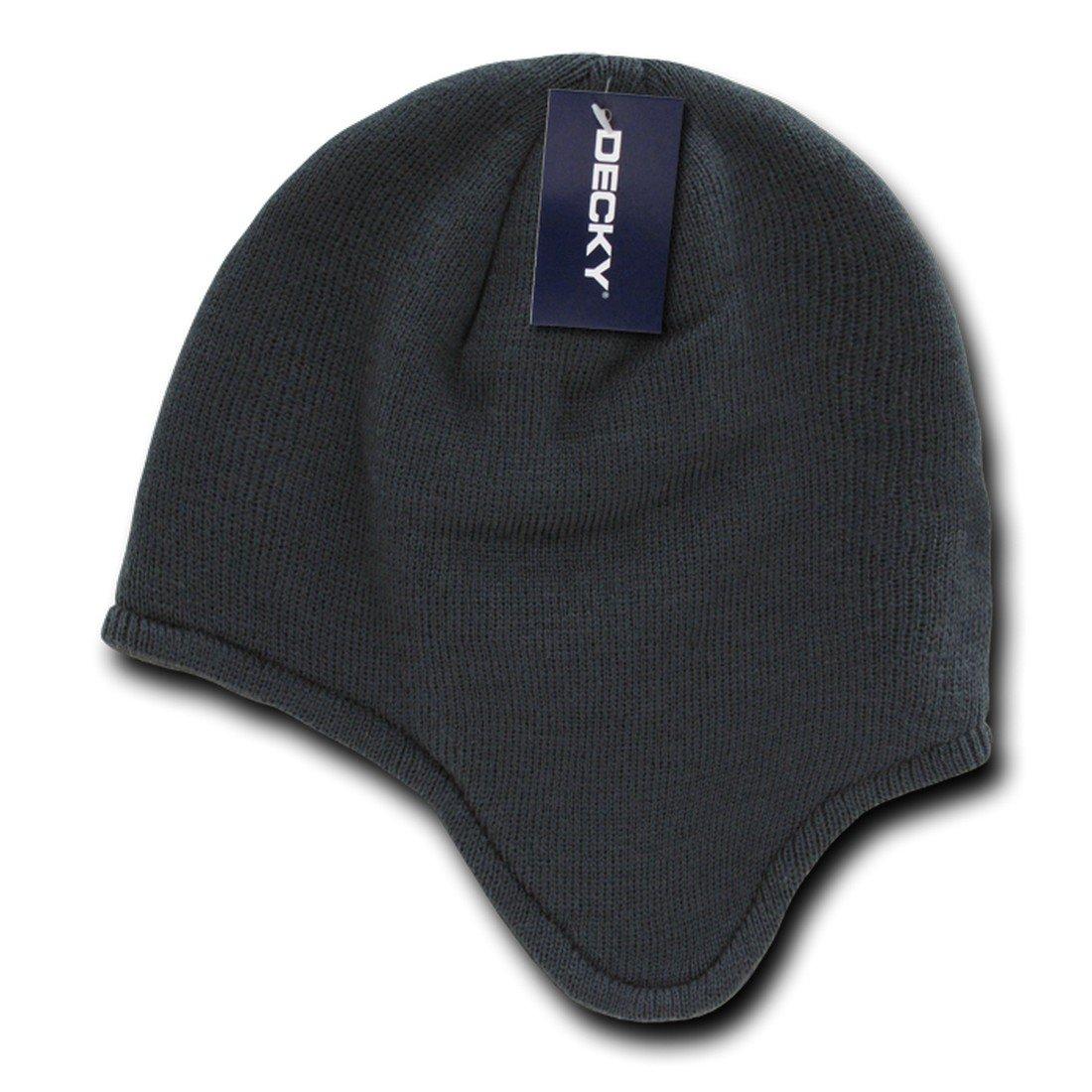 Decky Inc Helmet Style Ear Flap Snug Fit Beanie Skull Hat 616 BEANIE-616