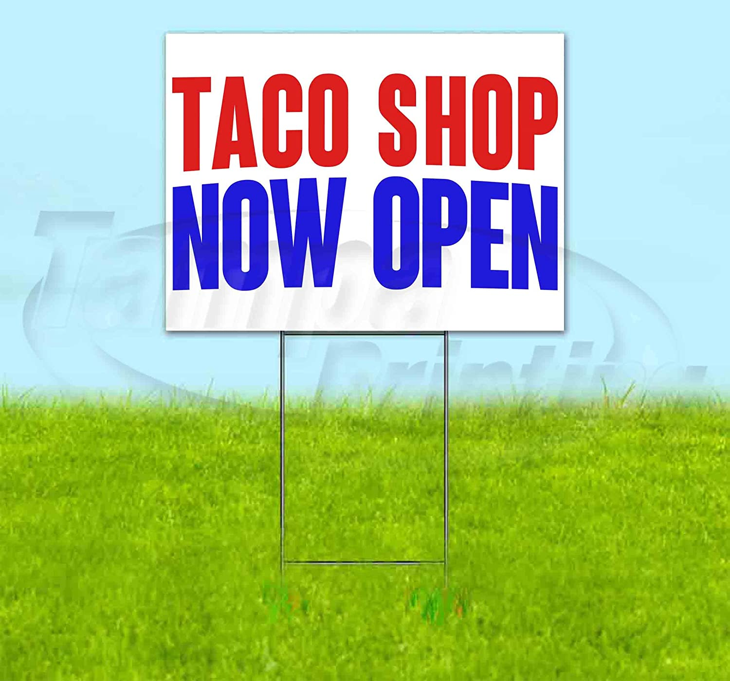 Amazon.com: Taco Shop Now Open - Cartel de plástico ...