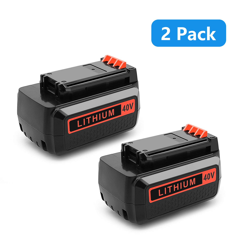 [2-Packs]Power-Ing 40V MAX Replacement Battery for Black and Decker lbxr2036 lbx1540 lcs1240 lbx2040 lst136 Black&Decker 40 Volt Lithium Ion Batteries