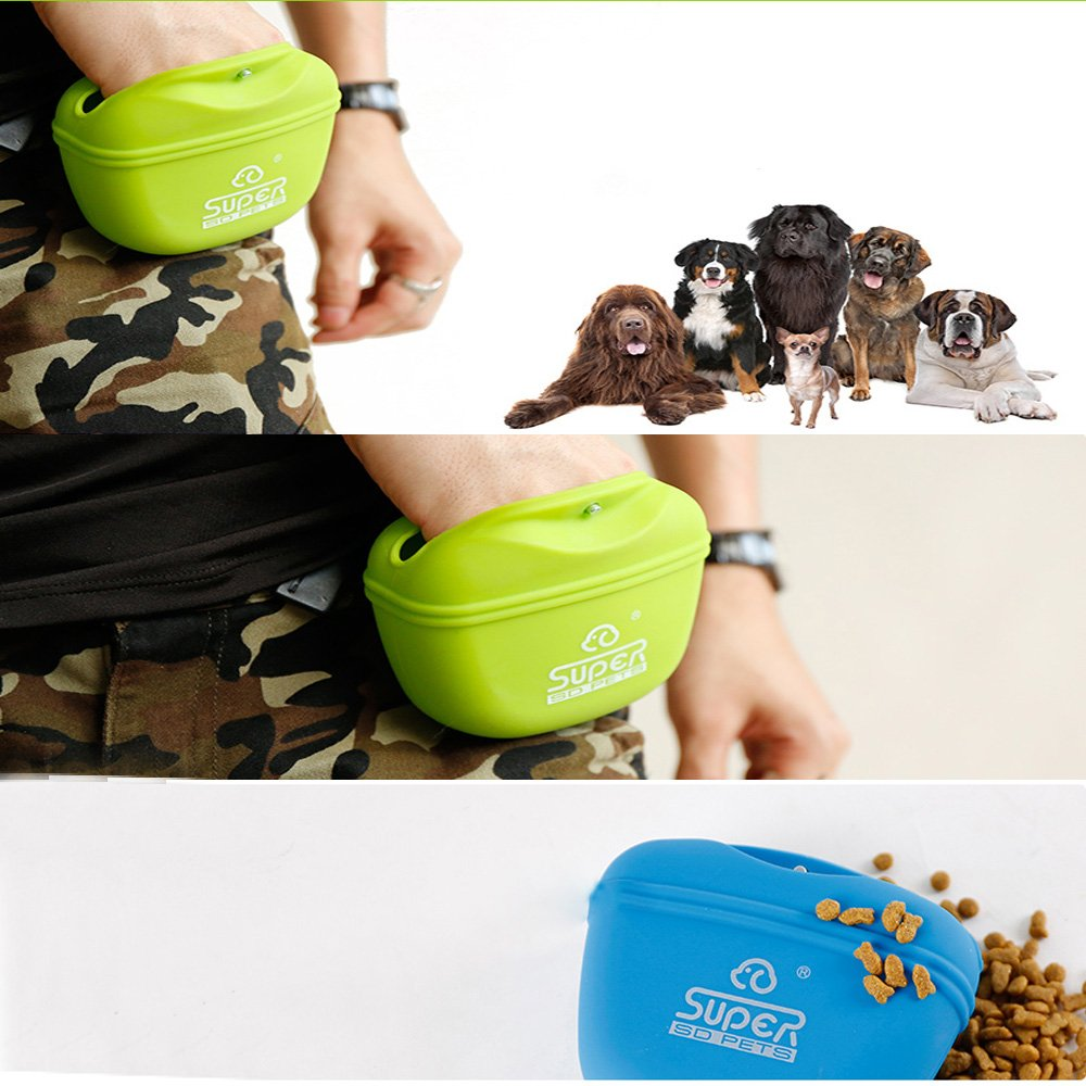 Dog Training Waist Bag Pet Treat Bag Touch Dog Pocket pouch Gift Bags for Dog food storage dry bag Carrier Lunch trash Bag for dogs Easy Open-Close Magnet Buckle Easily Carries Dog Snacks and Toys Bag