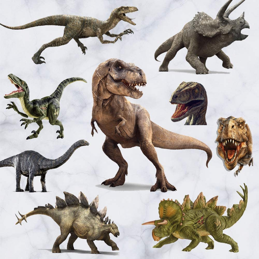 Kiddale 3D Watercolour Dinosaur Kids Wall Stickers,Peel and Stick Removable Wall Decals for Kids Nursery Bedroom Living Room