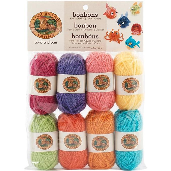 1a8167f71639 Amazon.com  (1 Pack) Lion Brand Yarn 601-610 Bonbons Yarn