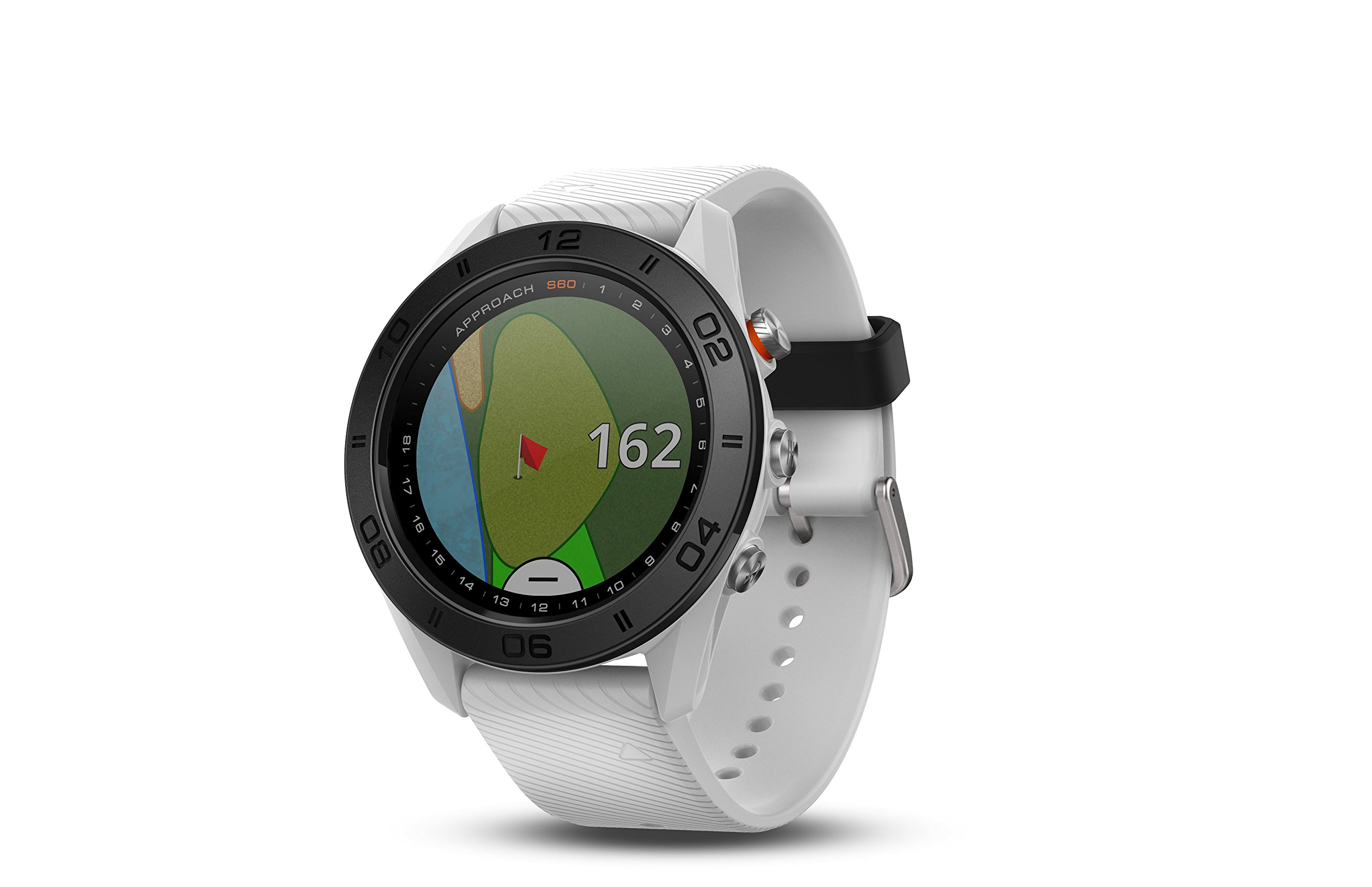 Garmin Approach S60, Premium GPS Golf Watch with Touchscreen Display and Full Color CourseView Mapping, White by Garmin