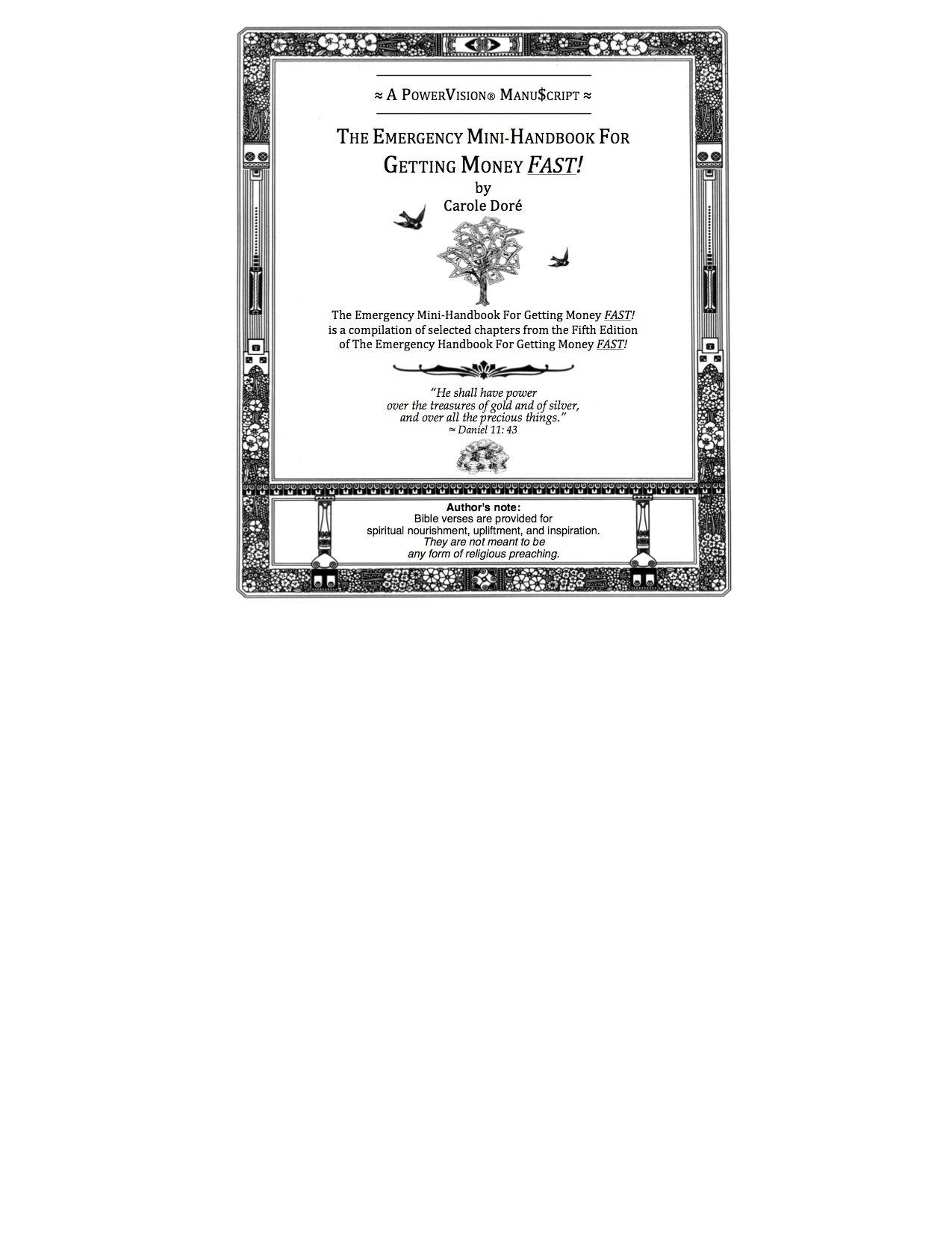carole dore emergency handbook for getting money fast pdf