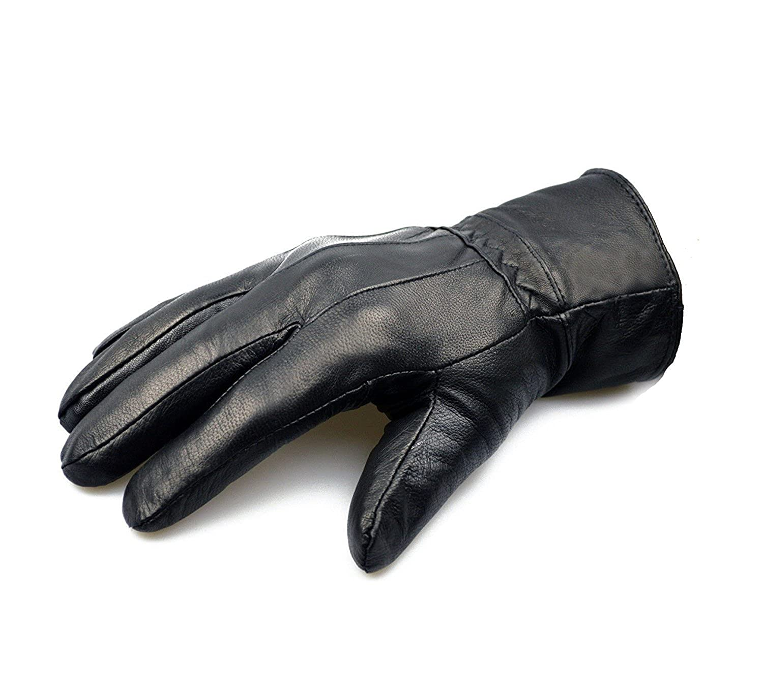 ODS:UK® MENS TOUCH SCREEN REAL LEATHER GLOVES THERMAL LINED BLACK DRIVING WINTER GIFT