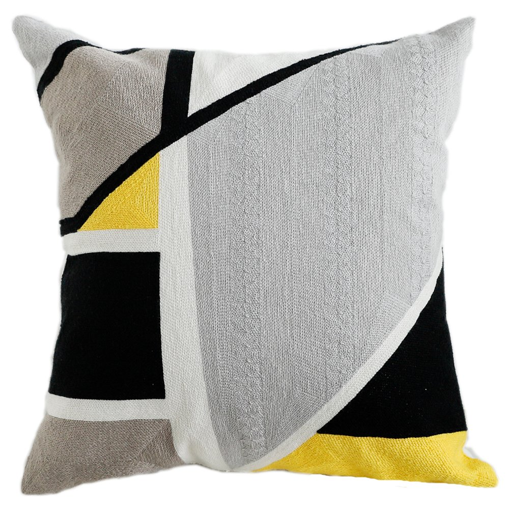Lananas Modern Decorative Throw Pillow Covers for Couch Geometric Home Cushion Pillow Cover for Bed 18'' x 18'' (Slash) by Lananas (Image #1)