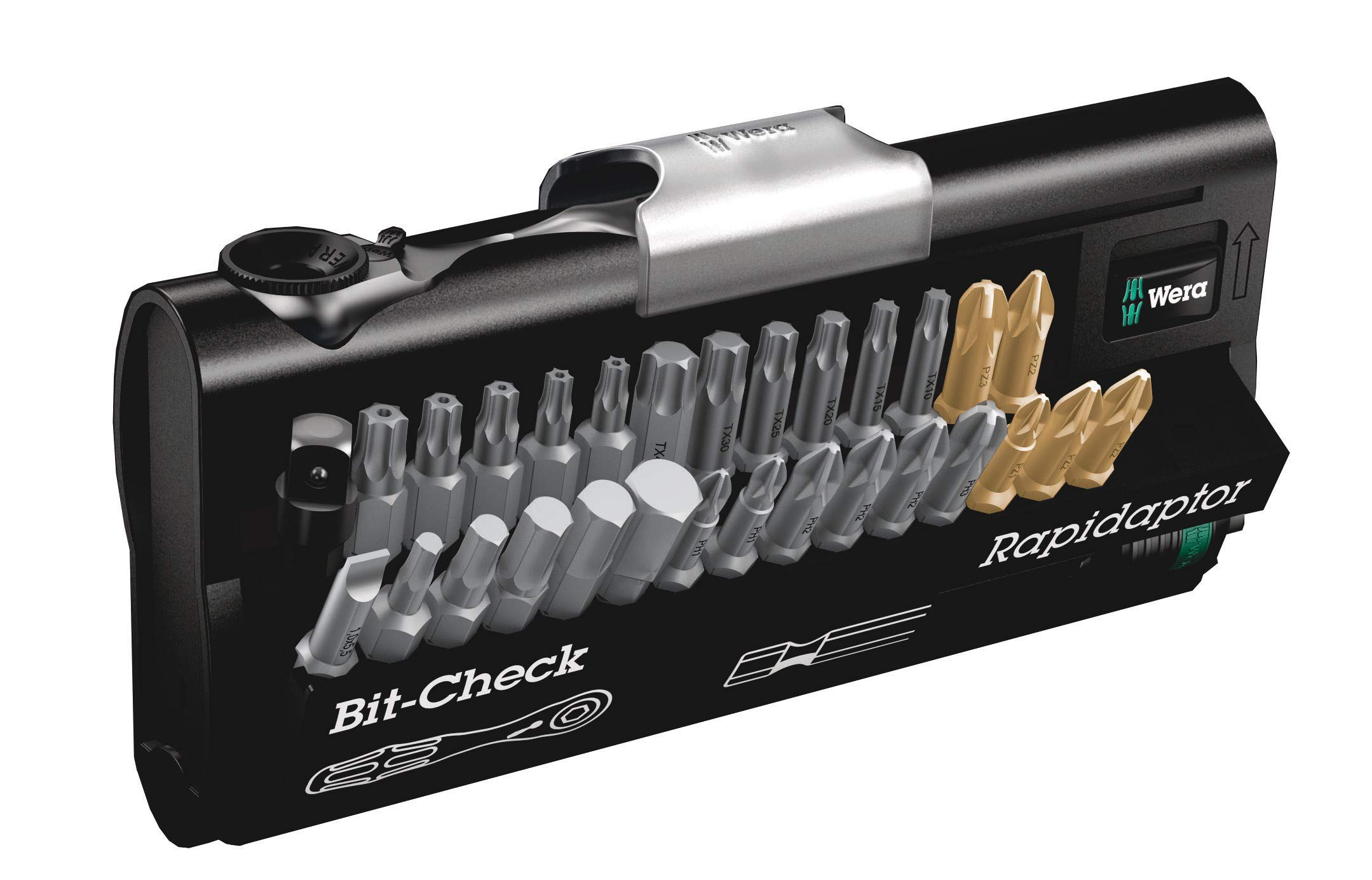 Wera 05073640001 30 Universal Bit Ratchet (Zyklop Mini) Set, 26Piece by Wera