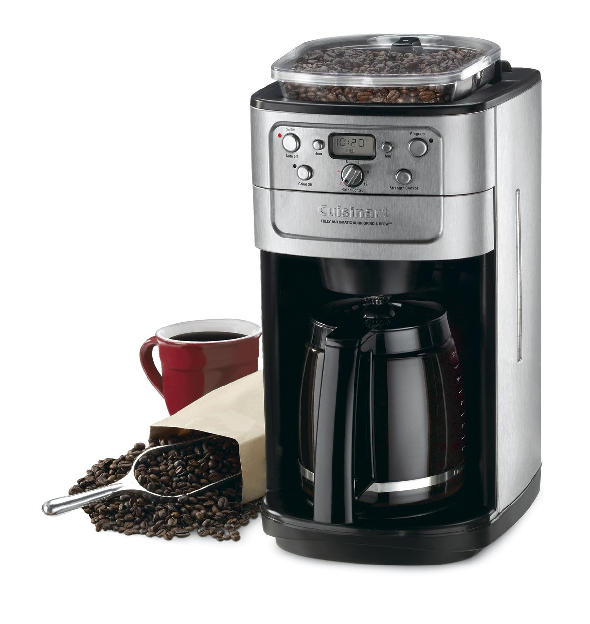 Conair Cuisinart Grind & Brew DGB-700BC 12 Cup Coffeemaker (Black/Brushed Chrome) by Cuisinart (Image #3)