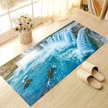 Wasserfall Boden Aufkleber Diy Stereo Wandaufkleber Wasserdicht