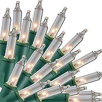 Christmas Lights, 150 Lights Incandescent Mini Clear String Light, 120V UL Certified Xmas Warm Tree Lights for Christmas…