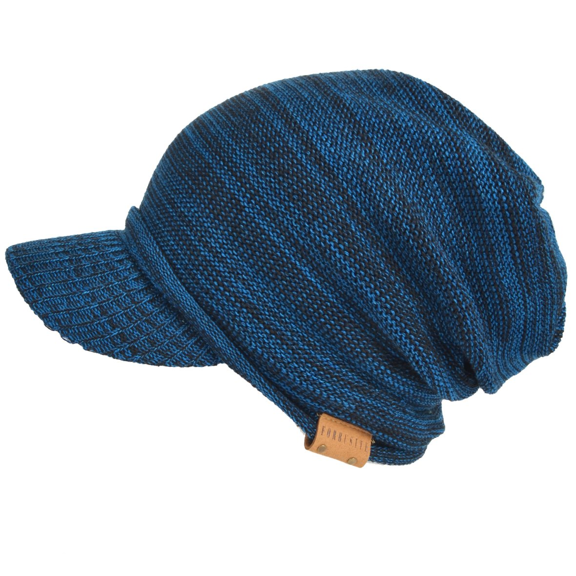 6bfd4c2d8dd Mens Womens Thick Fleece Lined Knit Newsboy Cap Slouch Beanie Hat with Visor  (Blue) at Amazon Men s Clothing store