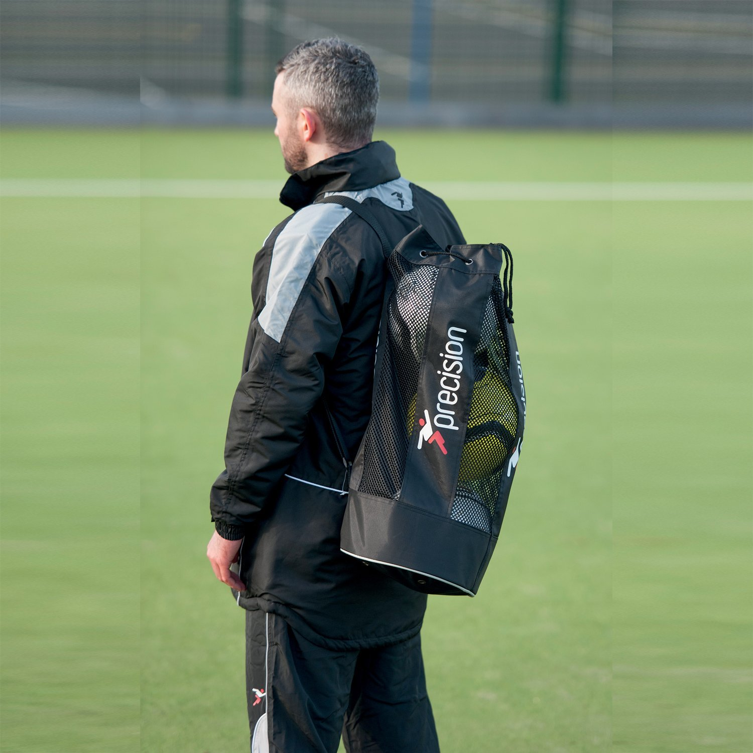 Precision Training Tubular Ball Bag With Shoulder Strap Holds 3 Footballs rrp£14 16/2-2