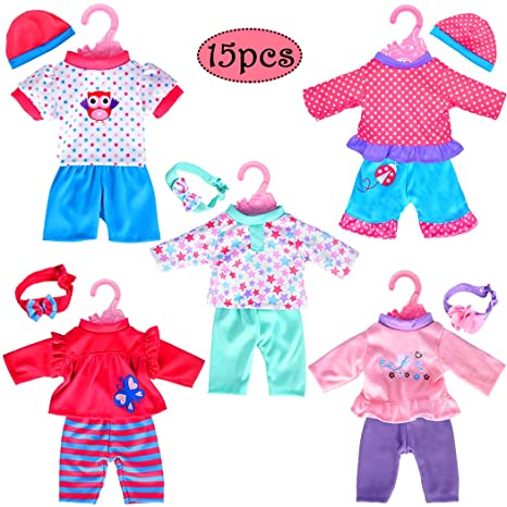 17285868e810a Amazon.com: 5-Pack Playtime Outfits for 11