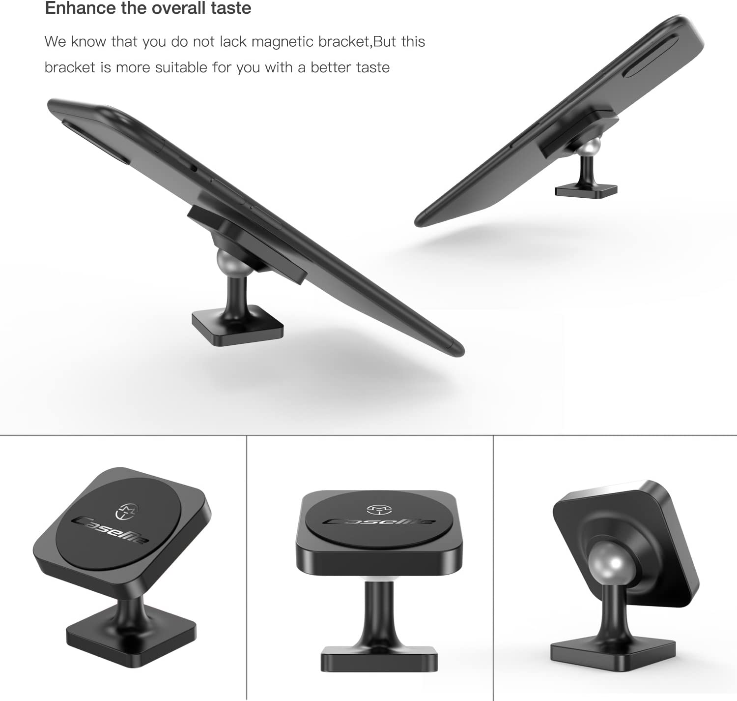 Hong Xinyu Huawei and More HTC,LG Magnetic Cell Phone Holder for Car,Car Phone Holder 360/° Rotation from Dashboard Universal Magnetic Car Mount for Cell Phone GPS Apple iPhone,Samsung Galaxy Circular-Black
