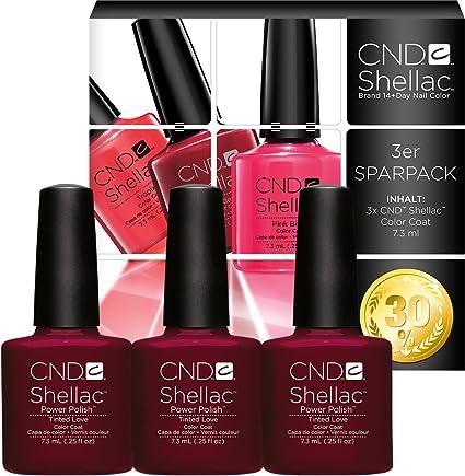 CND Shellac Tinted Love Pack of 3, Esmalte de gel de uñas - 22 ml.: Amazon.es: Belleza