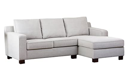 Abbyson® Regina Fabric Sectional Sofa, Grey