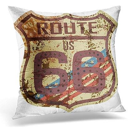 Amazon Throw Pillow Cover Americana Vintage Route Sixty Six Adorable Americana Decorative Pillows