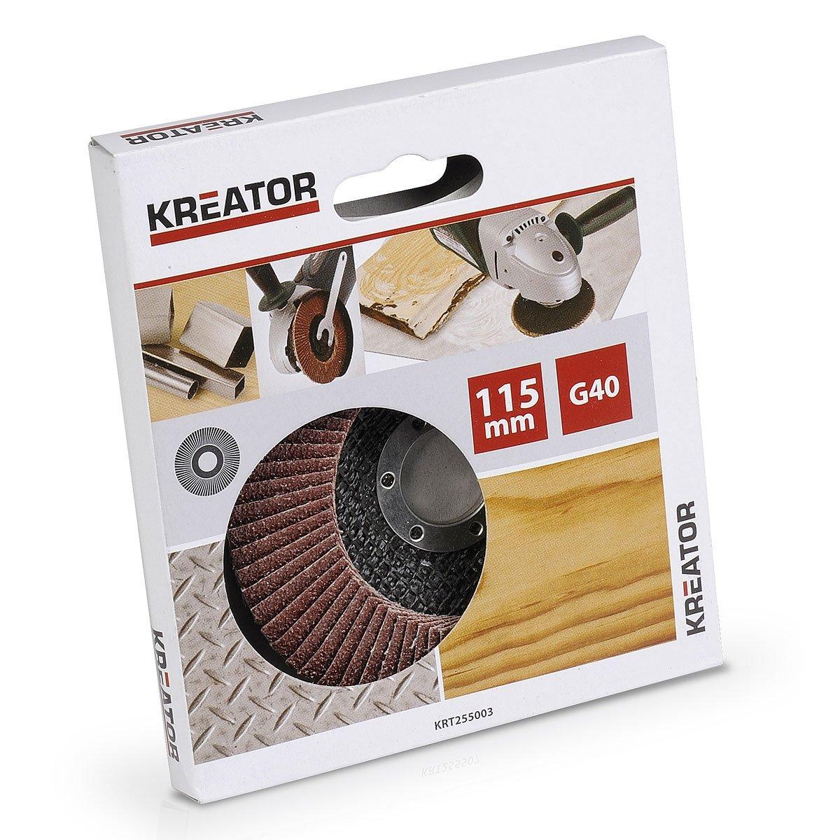 Kreator 03255004 Disque /à lamelles pour meuleuse /Ø 125 mm Grain 60