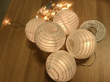 Lanterne Da Giardino Fai Da Te : Aehma 10 giardino lanterne di carta rotondo bianco 3 pollici