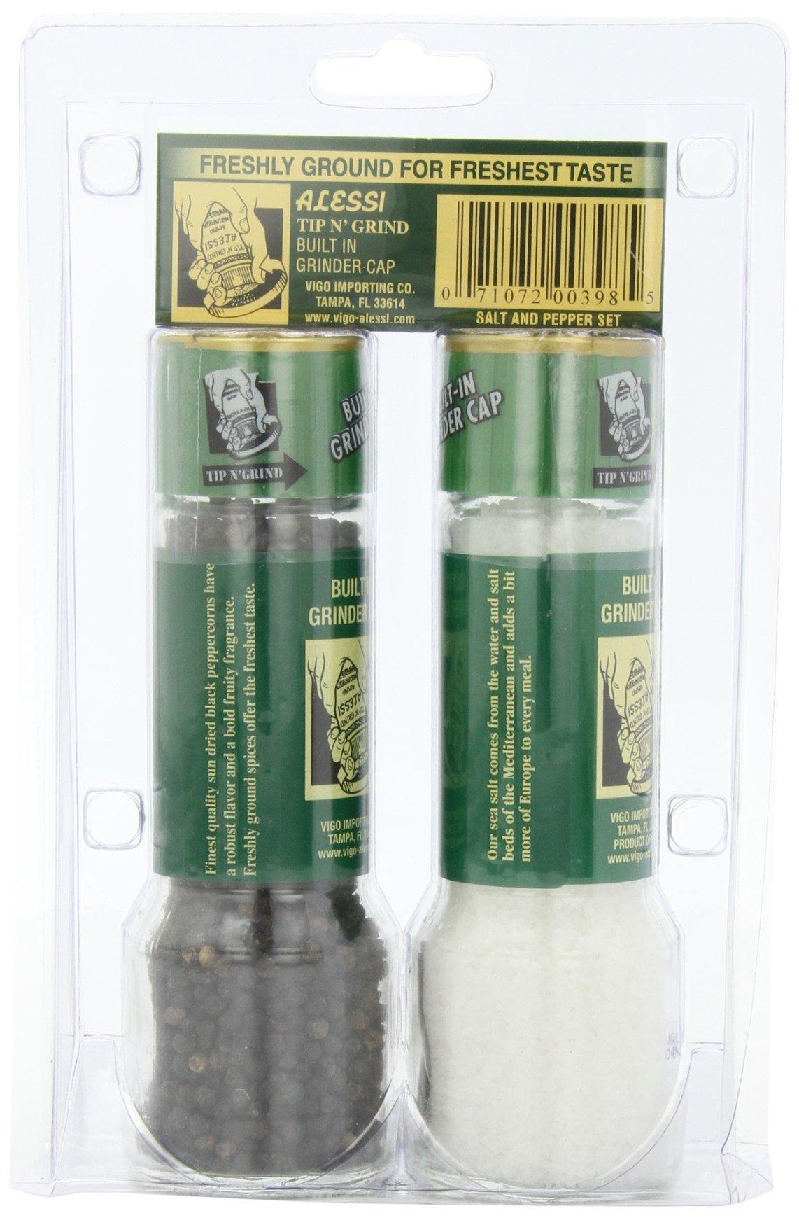 Alessi Grinder Set Salt 5.64 oz. and Pepper 2.64 oz.,  (Pack of 3) by Alessi (Image #4)