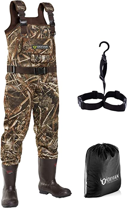 Mens Full Body Fishing Wader Boots Gloves Breathable Hunting Chest Wader Plus SZ