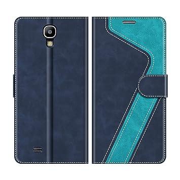 MOBESV Funda Samsung Galaxy S4, Funda Cuero Galaxy S4, Magnético Funda Cartera Carcasa Case con Billetera Soporte para Samsung Galaxy S4, Elegante ...