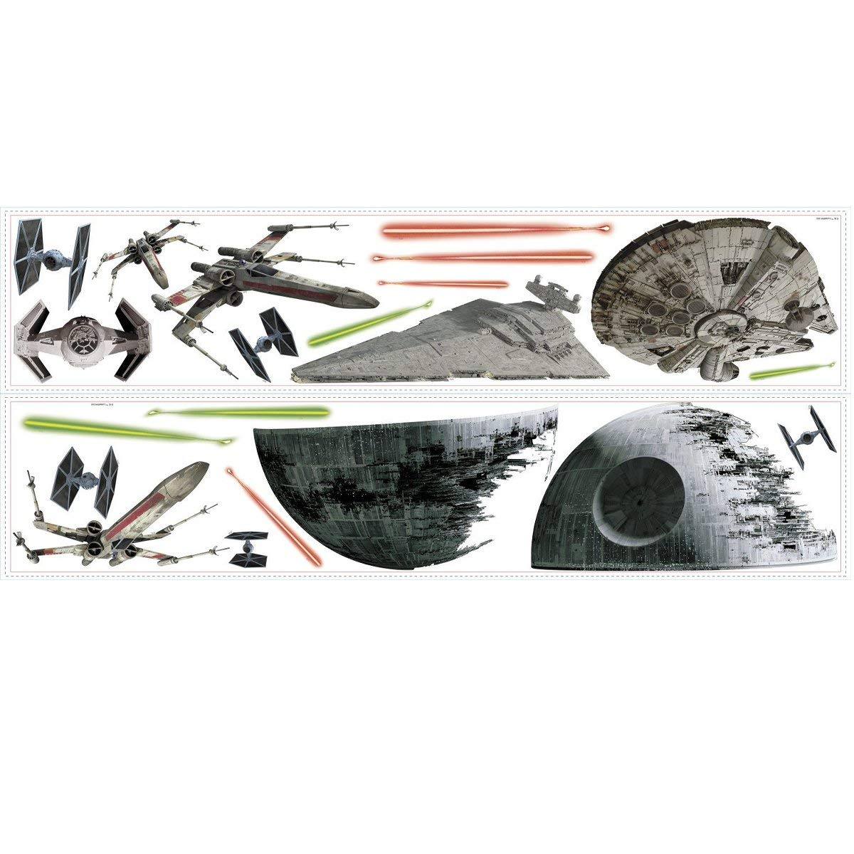 RoomMates Star Wars Classic Spaceships Peel and Stick Wall Decals by RoomMates (Image #3)