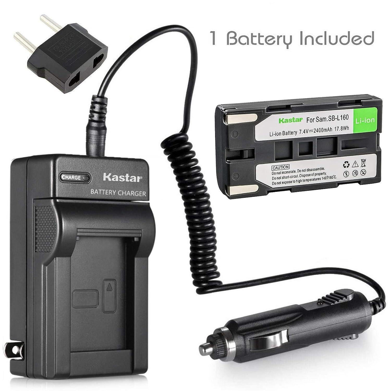バッテリー+充電器for Samsung sb-l110 a sb-l160 sb-l320 and Samsung scl700 scl710 scl750 scl770 scl810 scl860 scl870 scl901 scl903 scl906 scl907 MiniDVビデオカメラ B00JHL6D8Q