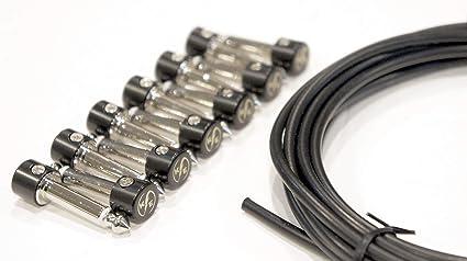 Kurrent Kit de 6 cables de conexión para pedal de guitarra eléctrica sin soldadura