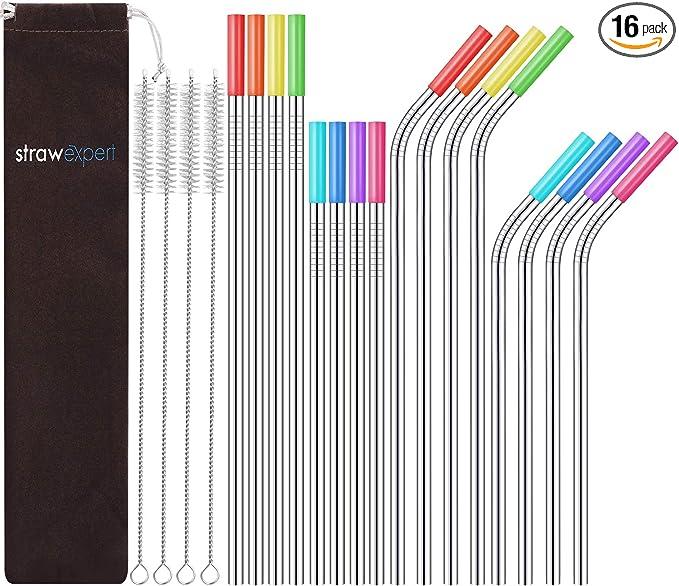StrawExpert  Reusable Stainless Steel Straws