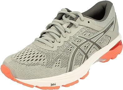 Asics T7A9N9697, Zapatillas de Running para Mujer, Gris (Mid Grey/Carbon/Flash Coral), 40 EU: Amazon.es: Zapatos y complementos