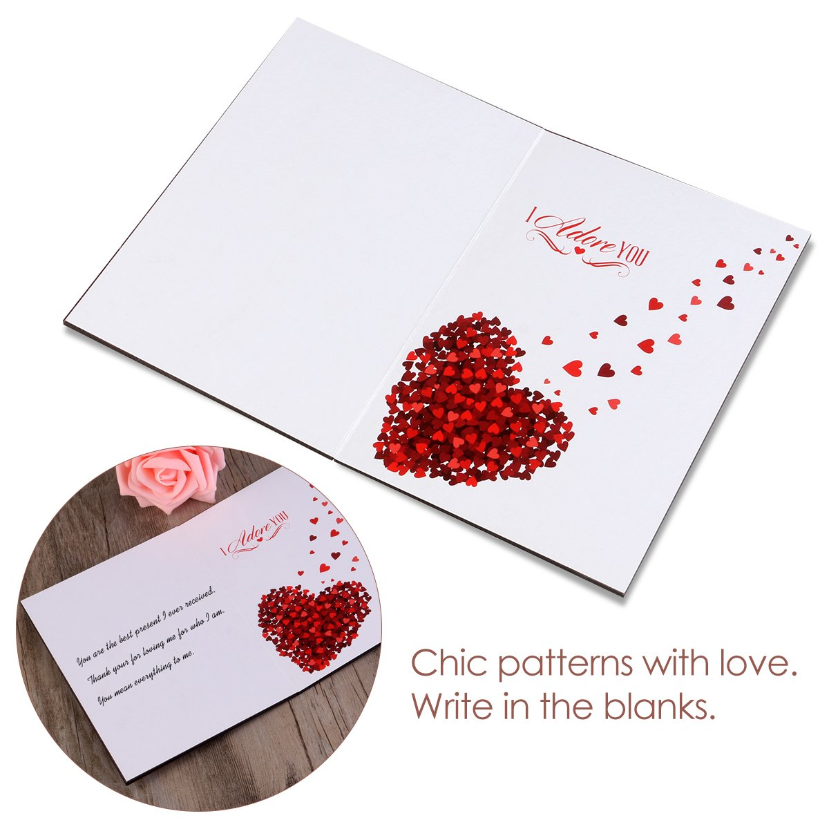 Amazon.com : BESTOMZ Valentines Day Greeting Card Handmade Real Wood Love  Cards For Valentineu0027s Day U0026 Anniversary Best Gift : Office Products