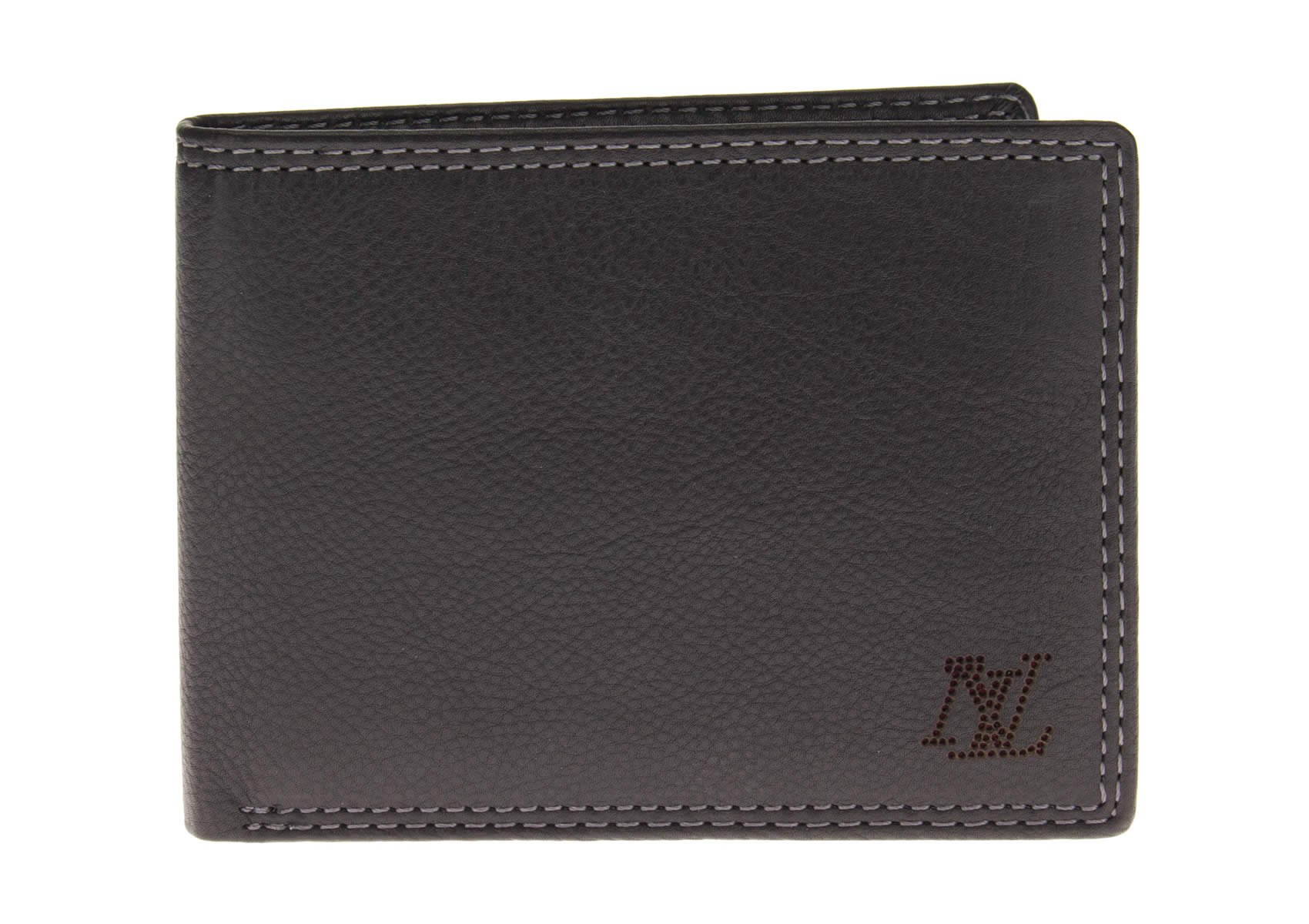 Luciano Natazzi Leather RFID Blocking Bifold Wallet Removable Double ID Holder (One Size, Black)