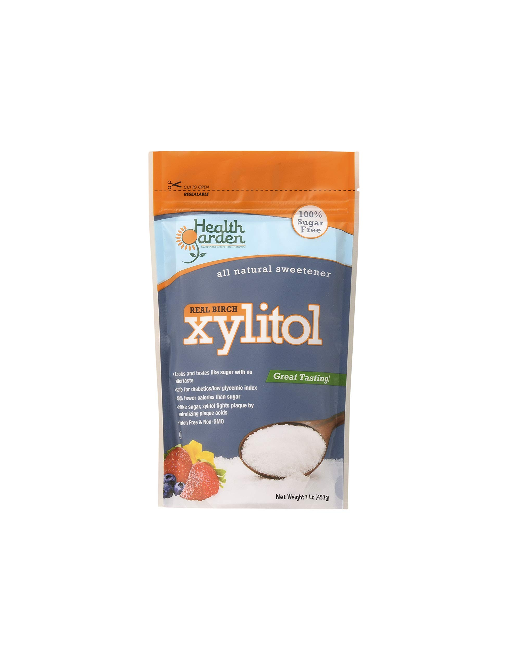 Health Garden Birch Xylitol Sugar Free Sweetener, All Natural Non GMO, Not from Corn