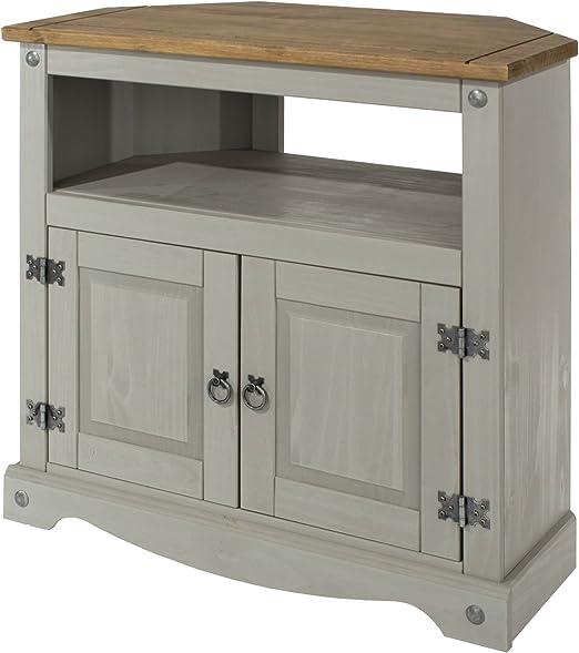 Corona – Mueble de esquina para televisor armario de nuestra gama de corona pintada muebles rústicos: Amazon.es: Hogar