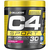 C4 Sport Pre Workout Powder Watermelon - NSF Certified for Sport + Preworkout Energy Supplement for Men & Women - 135mg…