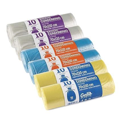 Gallo Bolsas para Reciclaje, Polietileno, Amarillo Azul ...