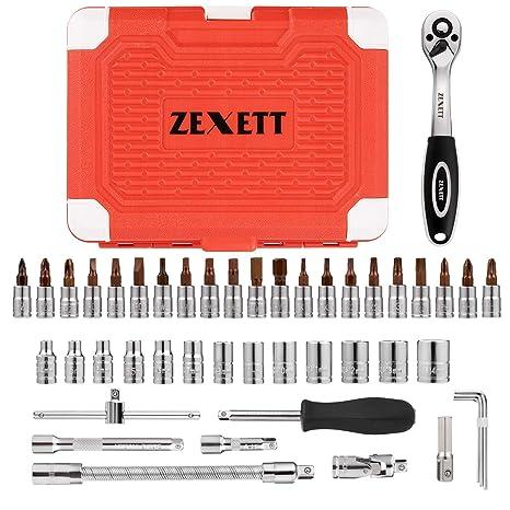 Amazon.com: Juego de llaves de carraca ZEXETT de 46 piezas ...