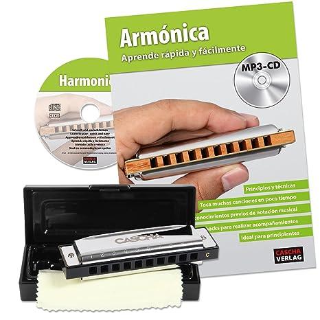 Cascha HH 1600 ES - Set blues armónica con manual en español